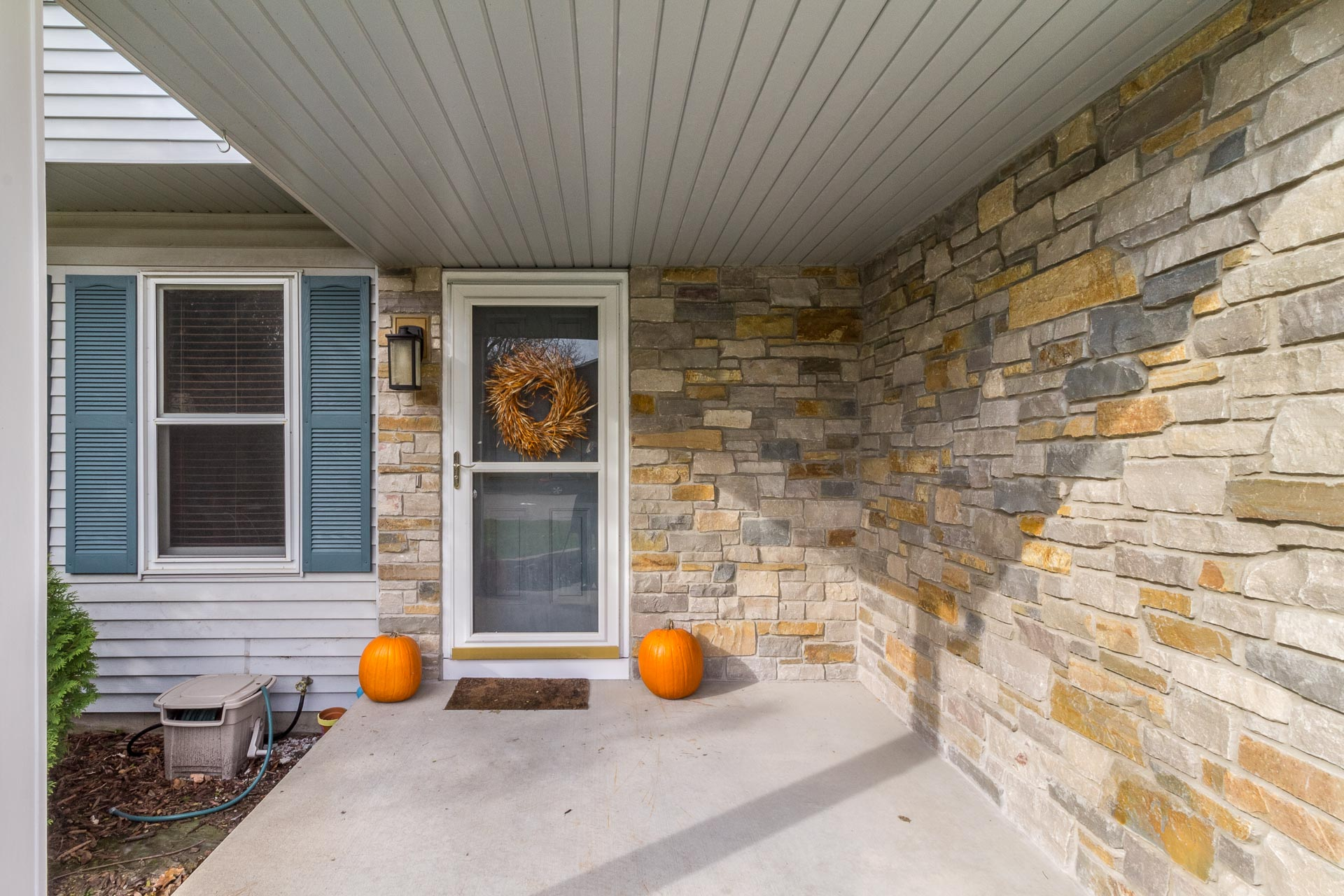 Exterior Home Renovation Masonry at front entry