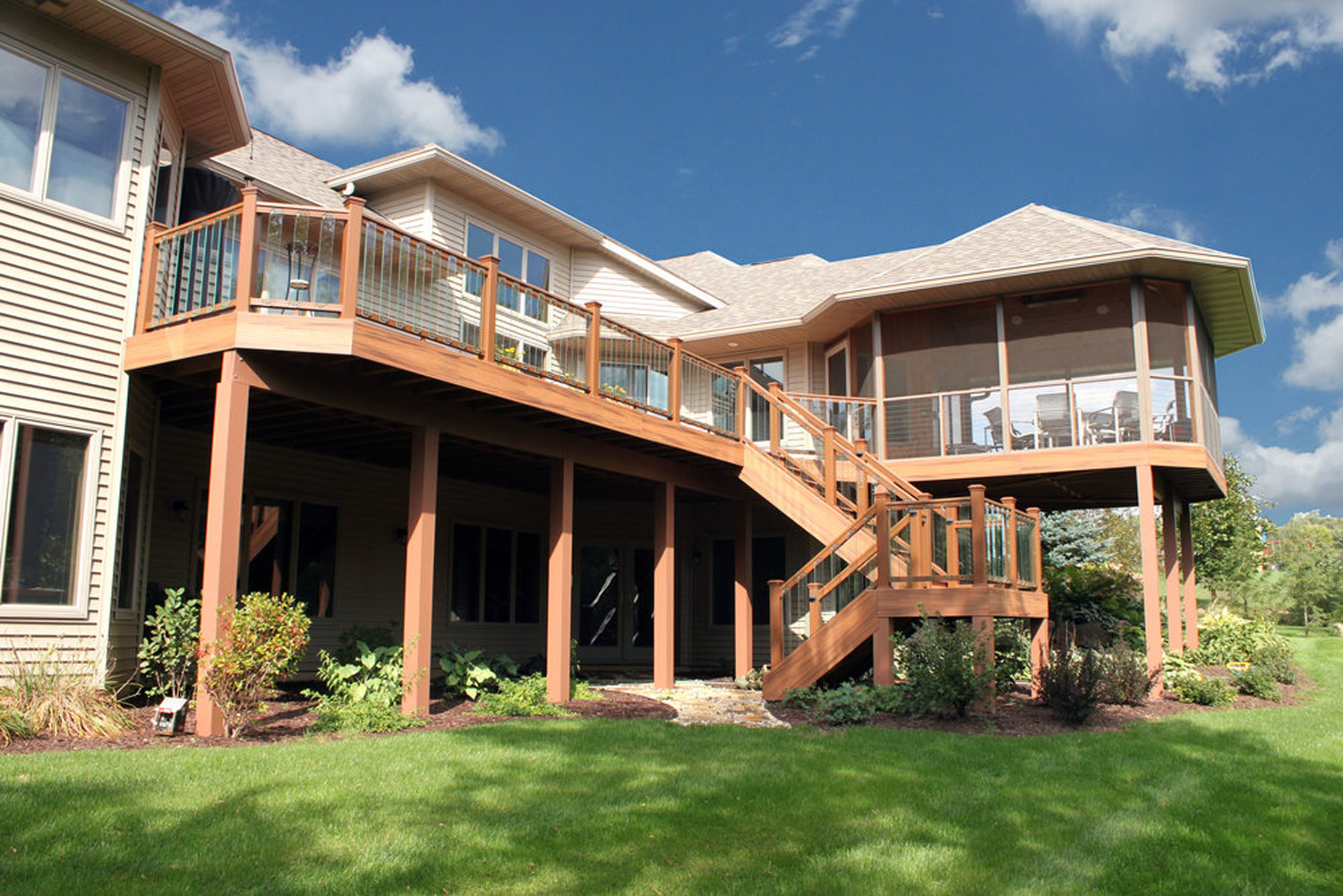 Two Story Deck Design and Home Renovation, Madison, WI
