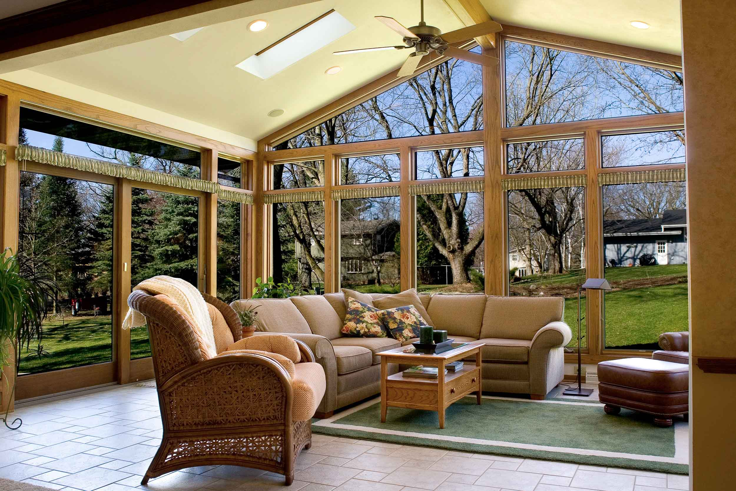 - This 4-season, heated & cooled sunroom, started as the back screened porch on a home. The old porch was removed, and totally re-built on top of the original foundation.