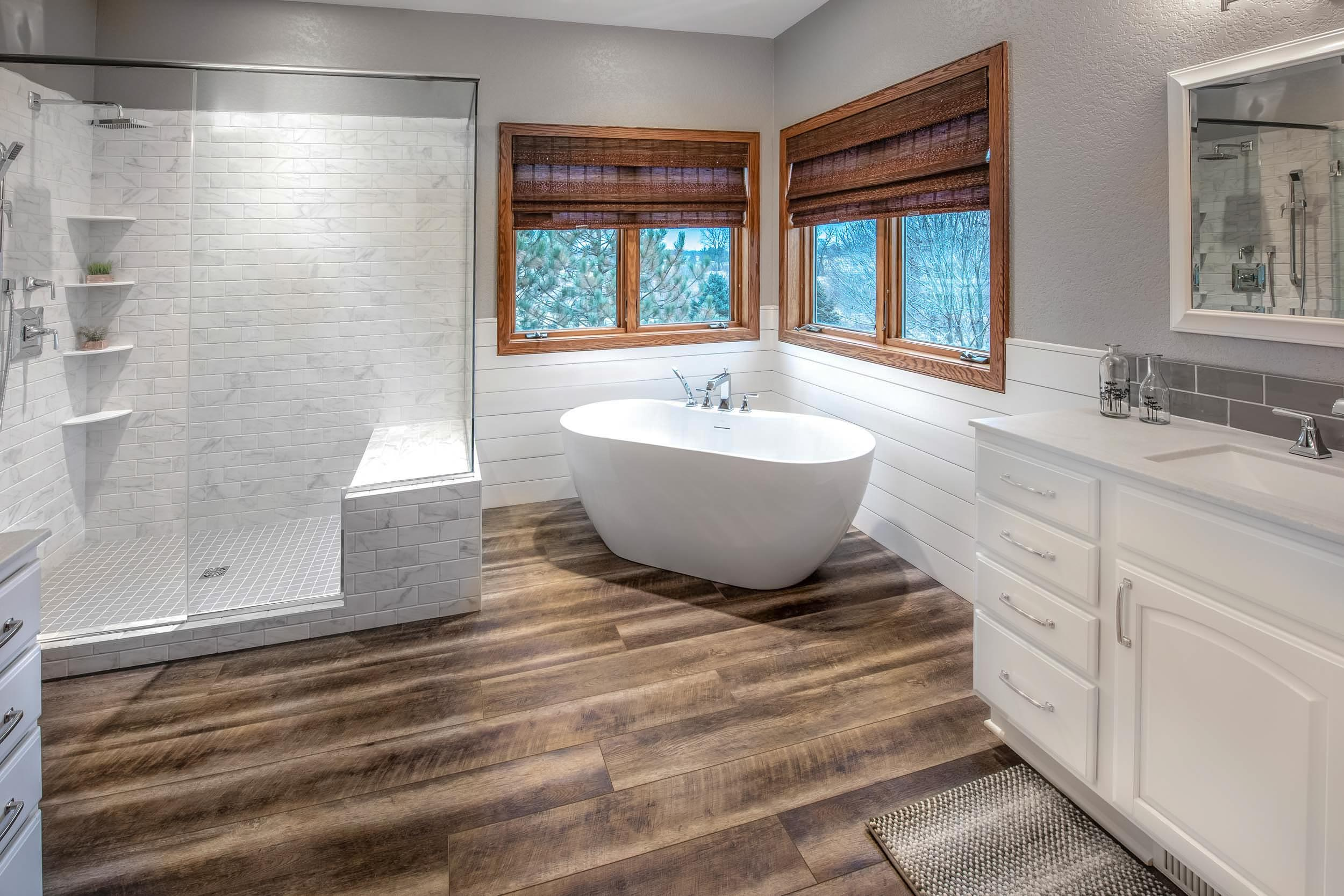 A Master Bathroom Remodel With Walk-In Shower and Soaking Tub