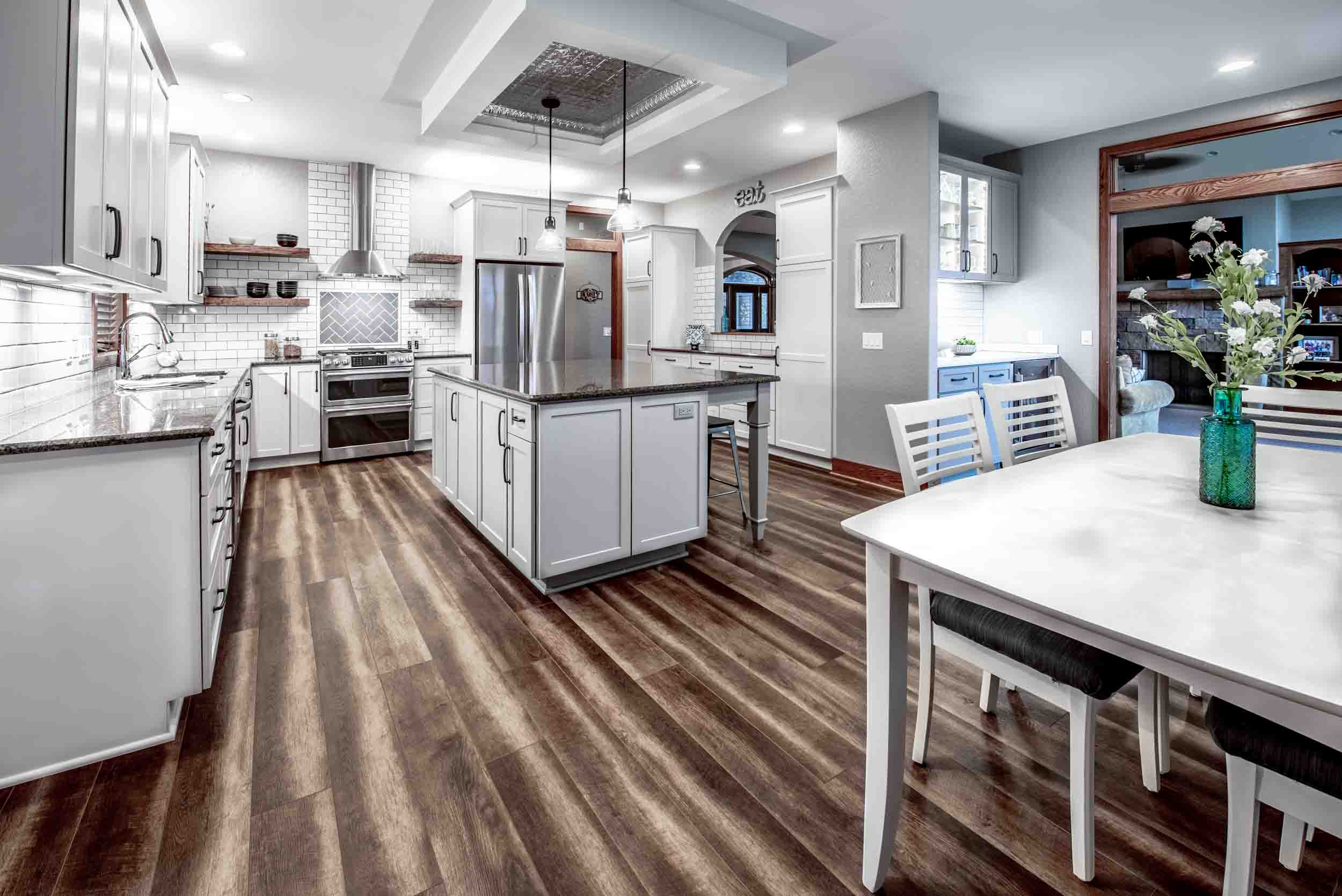 Kitchen Flooring by Coretec in Vineyard Barrel Driftwood