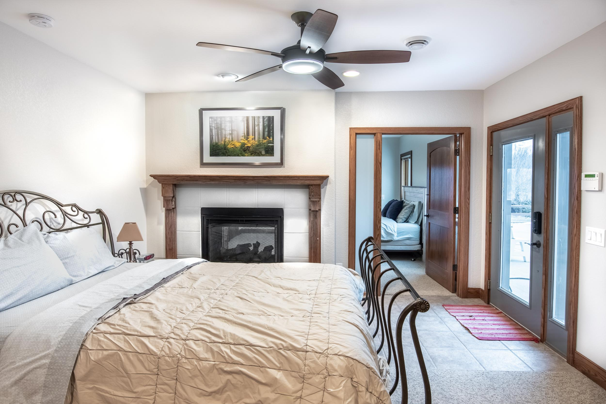 Two Sided Gas Fireplace Between Guestrooms