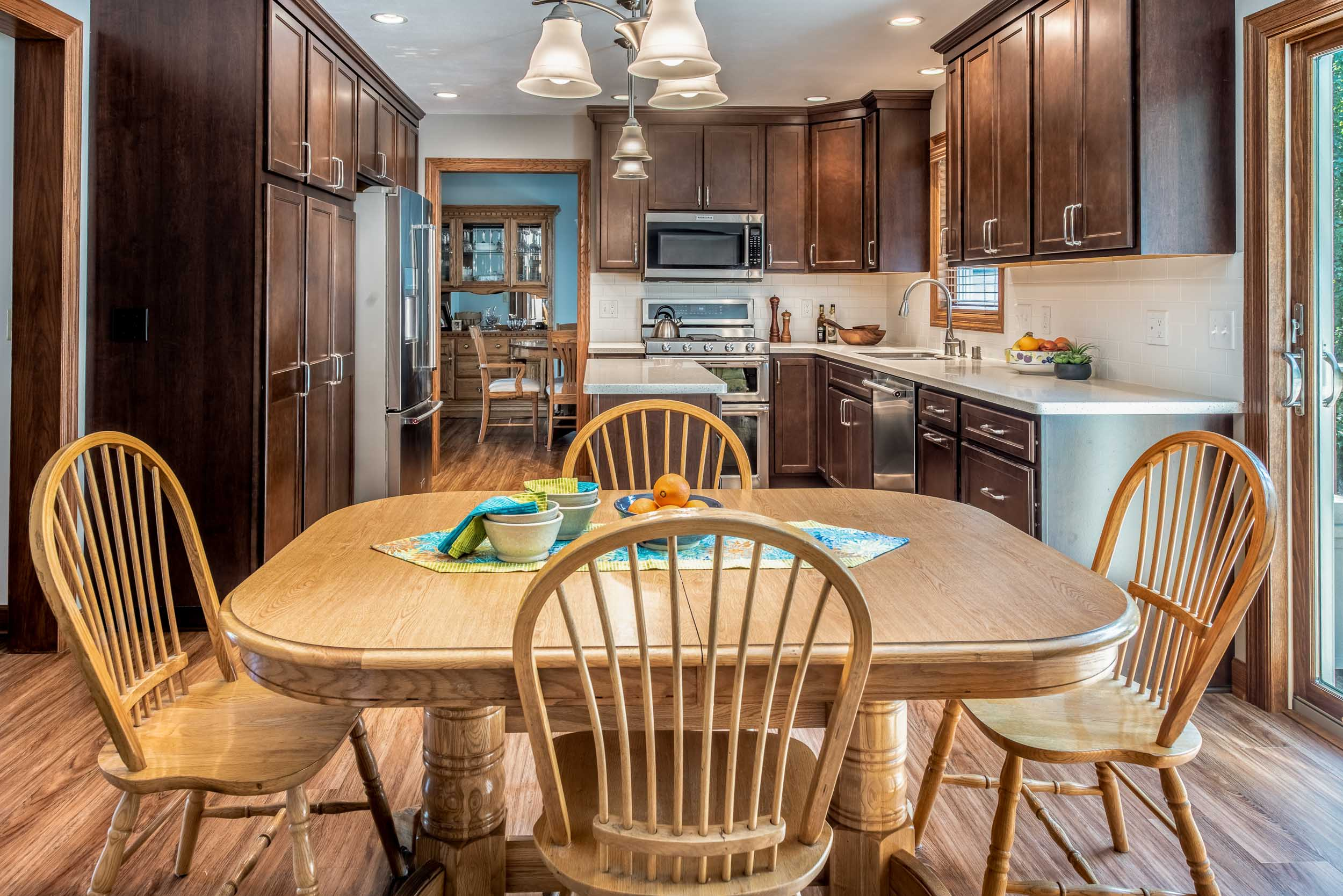 A new floor plan made Navigating From The Kitchen To The Dinette Easy.