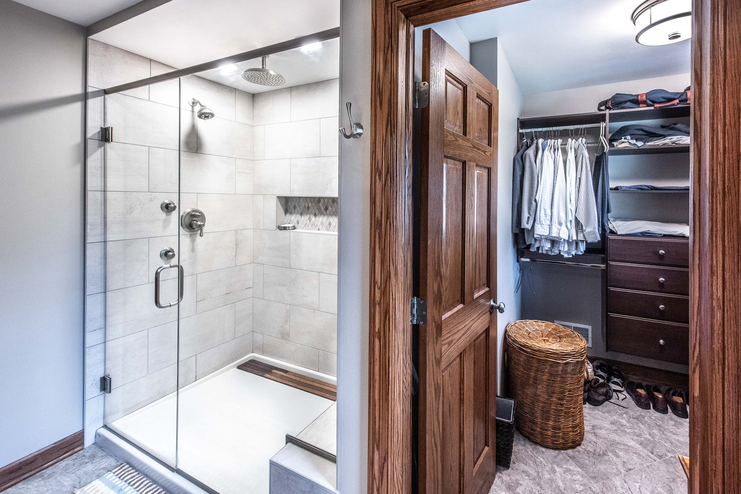 The Master Bathroom Suite Has Two Walk-in Closets.