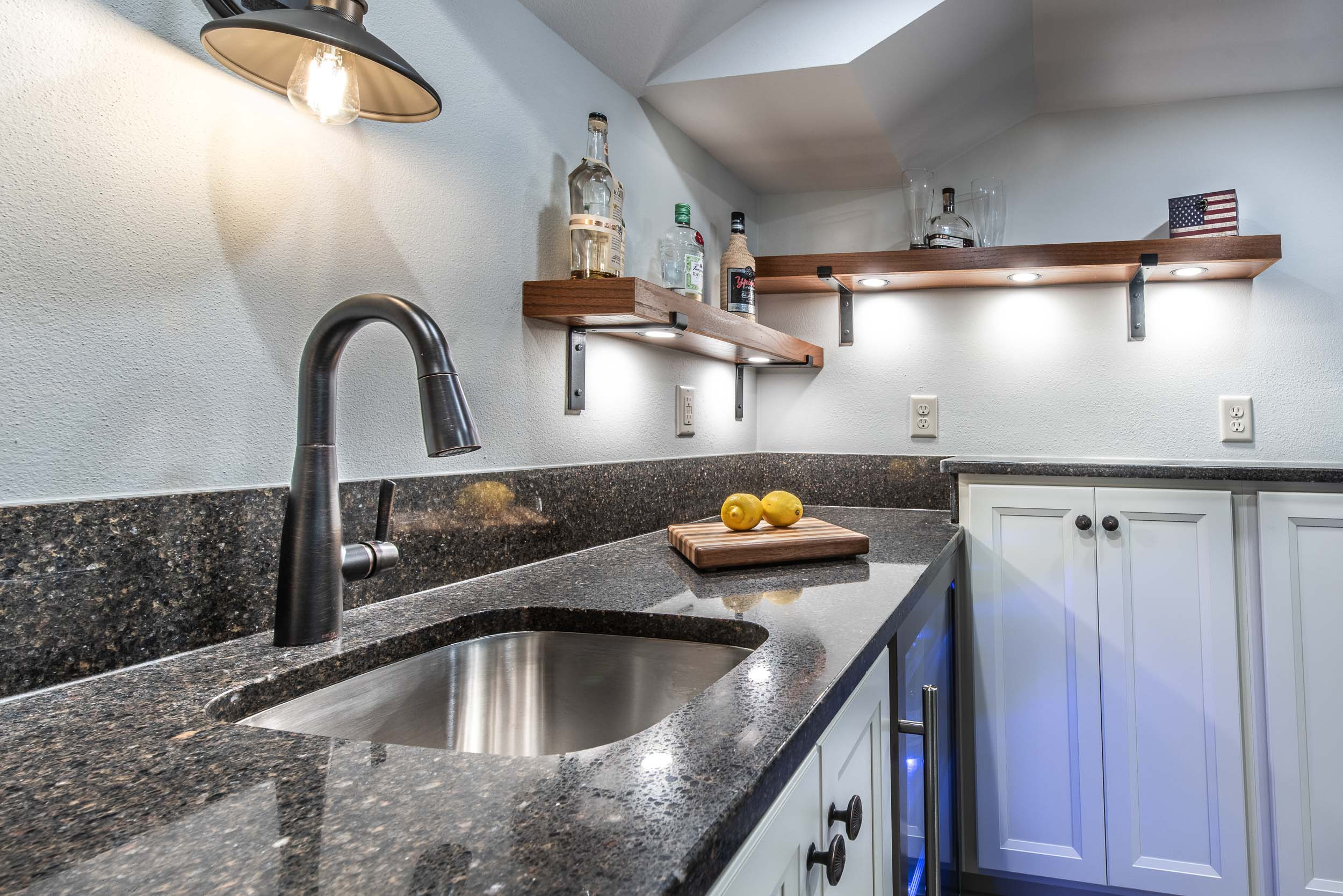 The Countertop is HanStone Quartz In The Color and Pattern Meteorite