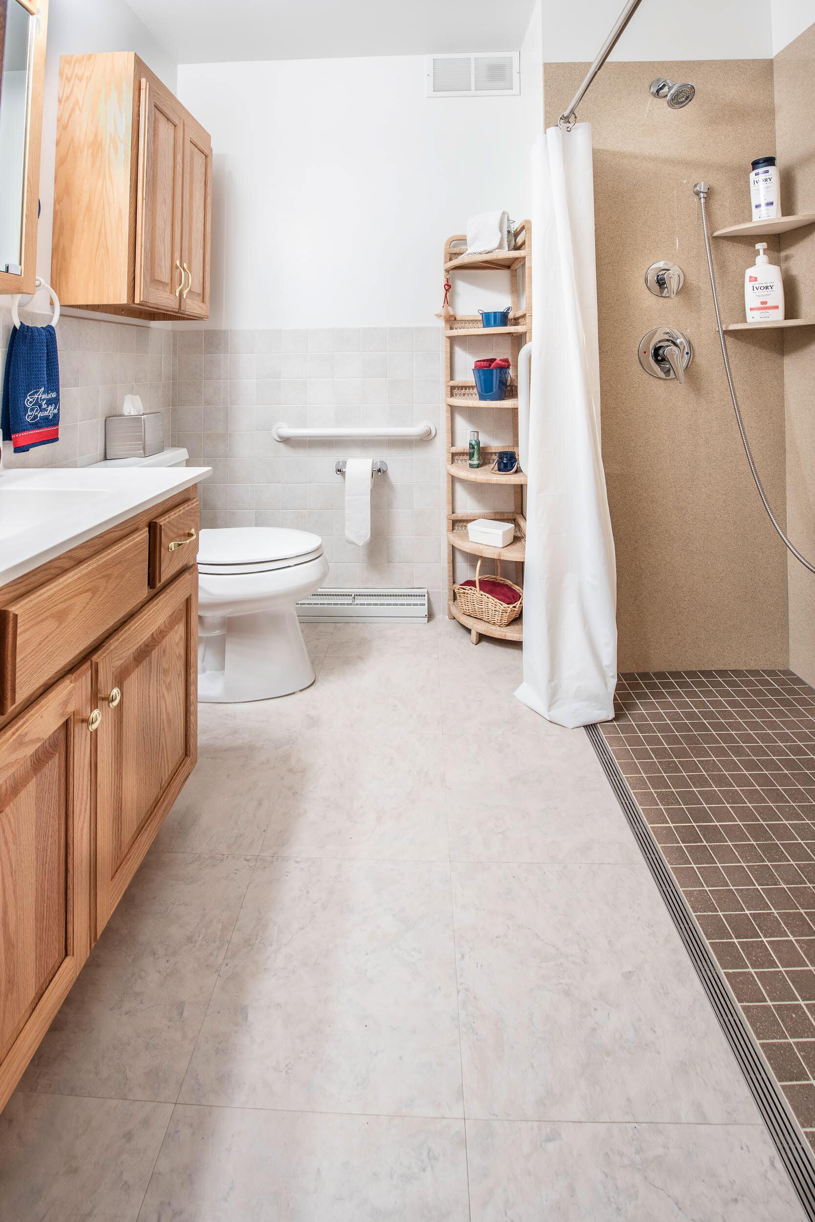 Kerdi Floor And Wall Waterproofing Underlayment Were Installed.