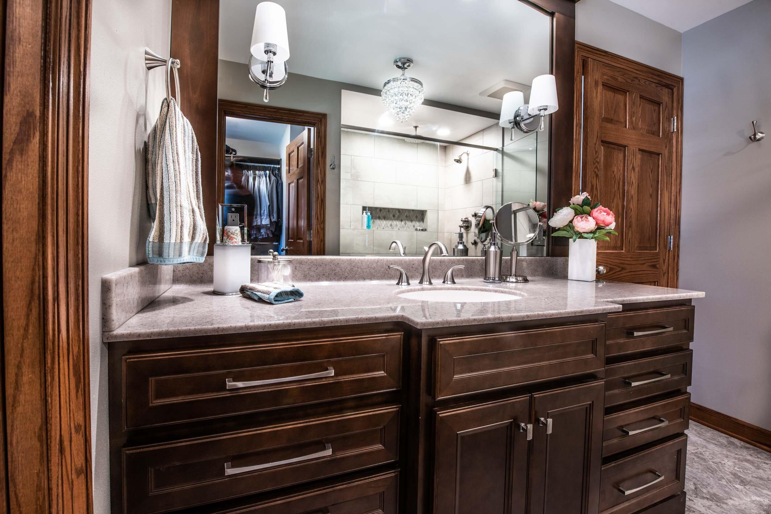 dual or single bowl vanity is one or