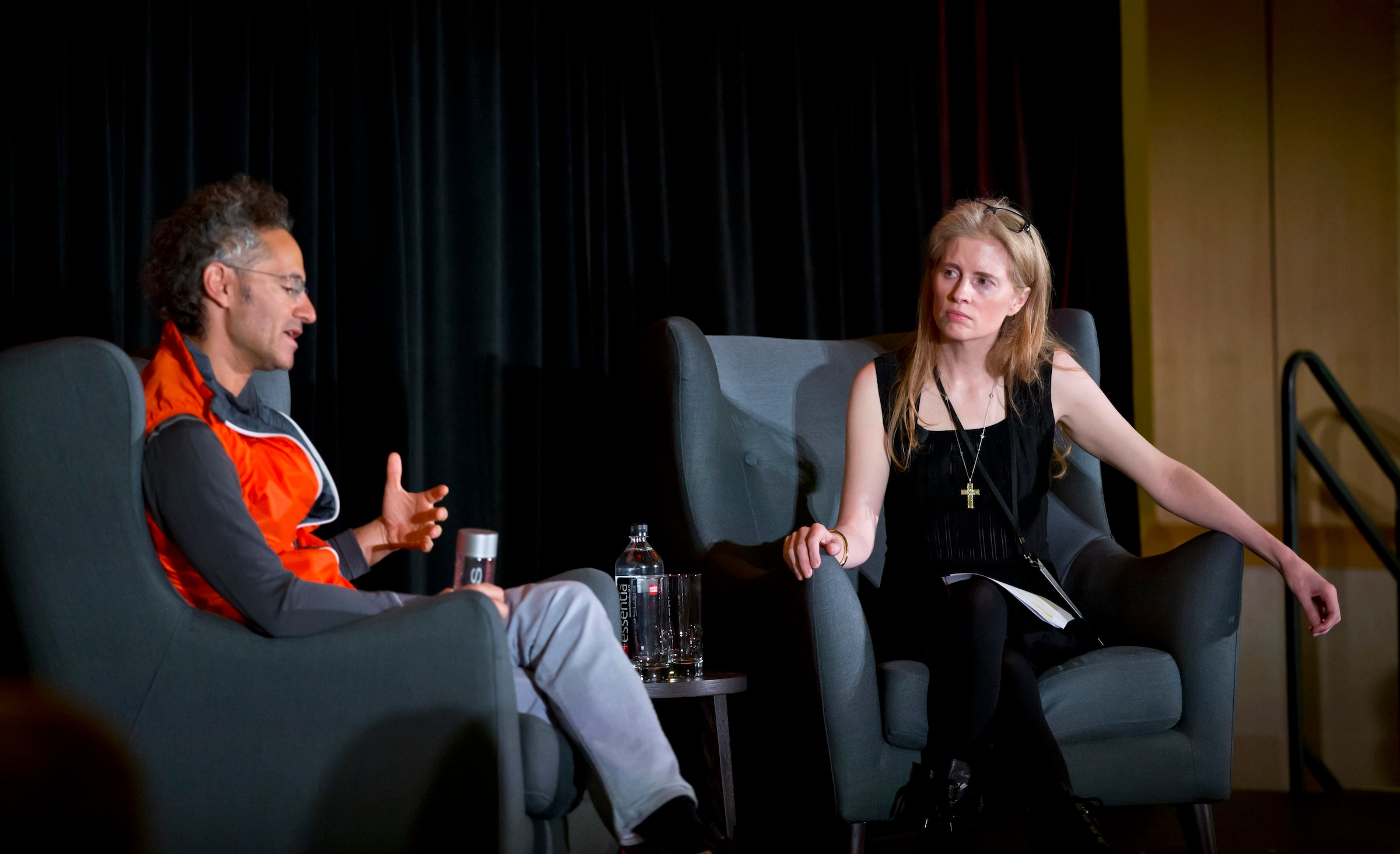 Laura interviewing Alex Karp, CEO of Palantir