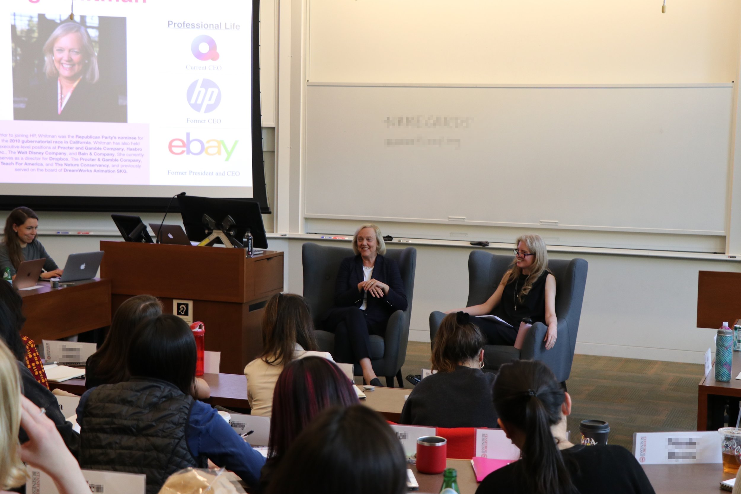 Meg Whitman in conversation with Laura Arrillaga-Andreessen about women in leadership, living your purpose and sticking to your values throughout your career.
