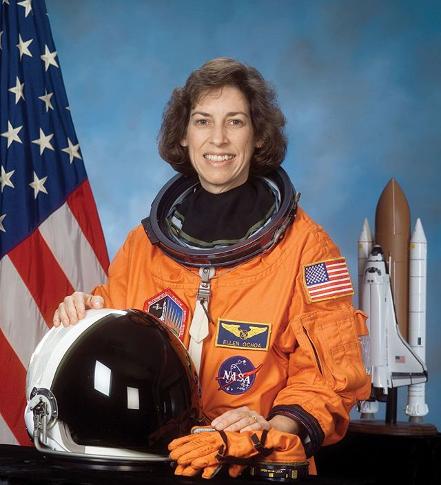 "Ellen Ochoa was the first Latina to go to space in 1993. #HispanicHeritageMonth *** ""I learned to keep focus on two things: (1) accomplish the mission and (2) take care of your people,"" says Ochoa in her recent Forbes interview. *** ""If you do (2) well, then your team will take [care] of (1)."" *** 🔗Link in bio for the full interview, including her advice to Latinas who are pursuing a career in STEM. *** Photo credit: Encyclopedia Brittanica"