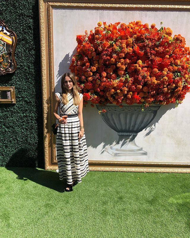 A beautiful day for a polo match! Honored that @juliaroberts and @magslawslawson both wore #OctaviaElizabeth alongside me. Thank you @veuveclicquot for hosting a wonderful event. For details, see story! ————————————————————————#vcpc10 #veuveclicquotpoloclassic #style #fashion #juliaroberts