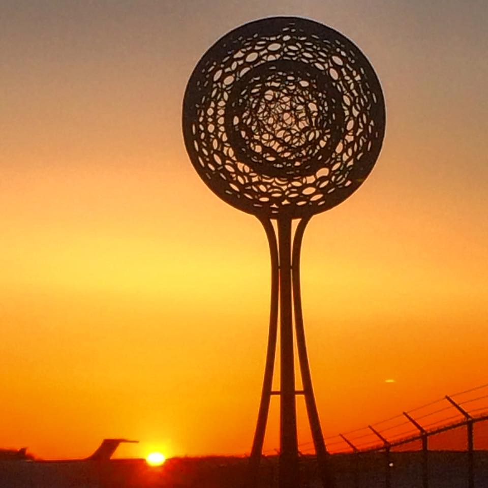 A Spirit of It's Own  by JBONE at the Portland International Jetport. Photo by Nans Laf