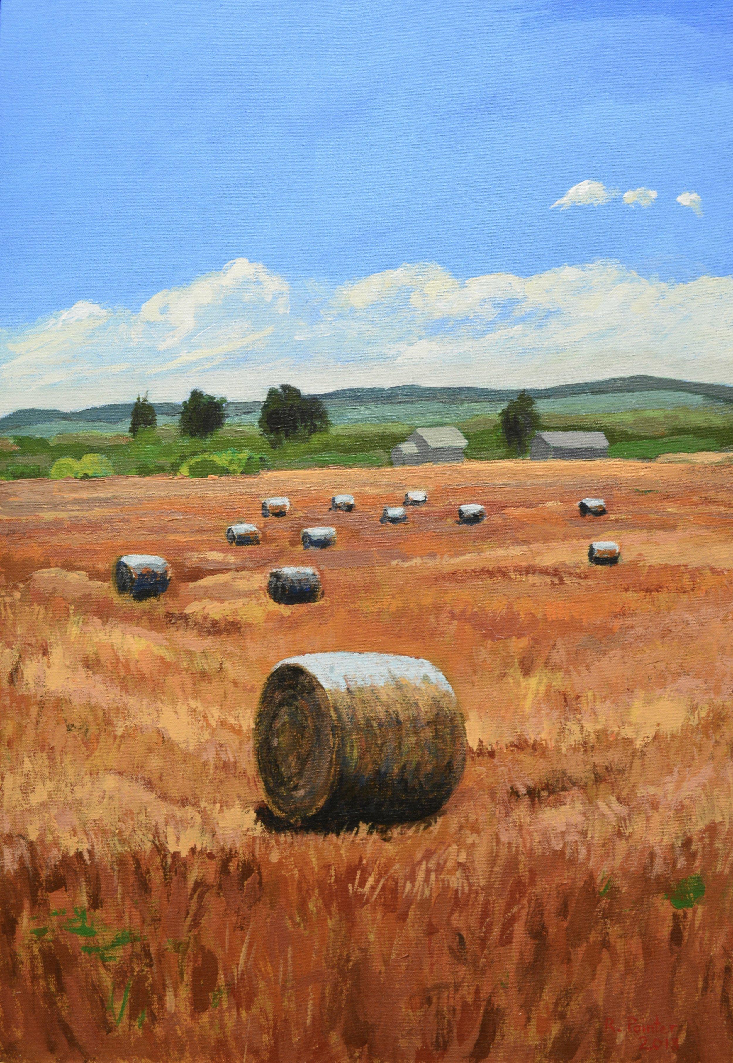 Straw Bales - ~ • ~ • ~Robert Pointer705-434-9907