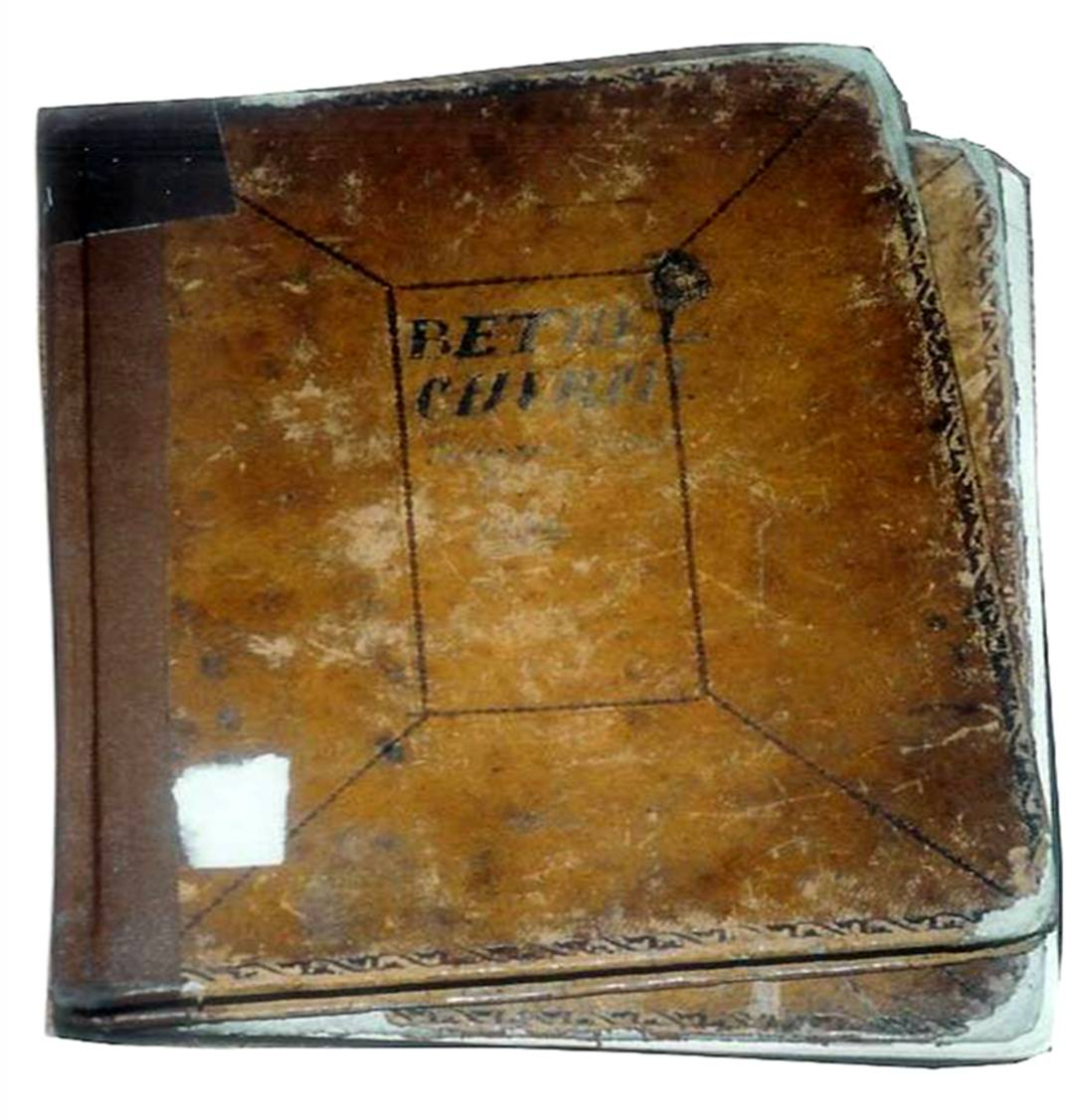 The original records of the first fifty years of Bethel Church were lost. Samuel McFall was elected a Ruling Elder and Clerk of Session, after which he purchased a Minutes of the Session book and a Church Register.