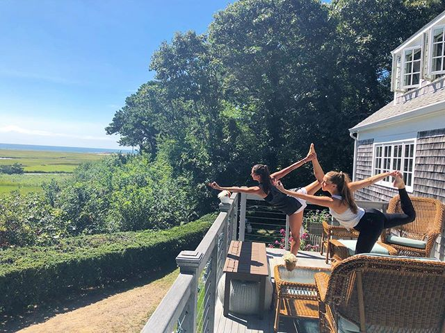@carter_caro thank you for indulging in my porch yoga and coconut yogurt this weekend & @jca131 thank you for taking this picture