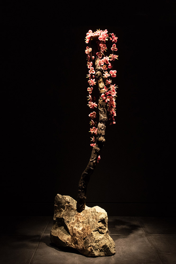 Cherry, 2018 Blown and sculpted glass 90 x 28 x 20 inches