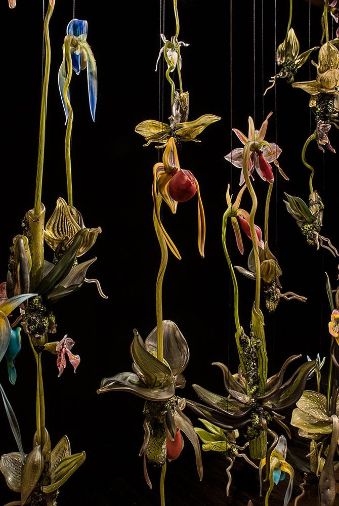 """Orchidarium Blown and Sculpted Glass 8 x 6'.6"""" x 20"""