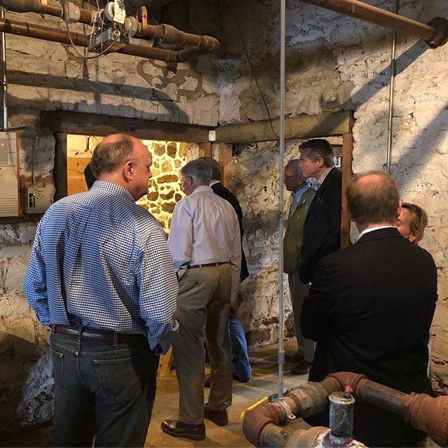 We were back down in Annapolis for the first City Dock Design Committee meeting. But before we got down to business for the restoration and redevelopment of City Dock, Historic Annapolis gave us the all access tour of the restoration of Brice House. @historicannapolis #annapolishistory #citydockactioncommittee #takingaction #makingprogress