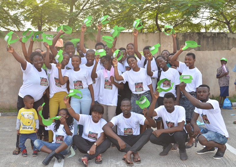 Betty Abah (seated third on front row) with volunteers from Makoko and CEE-HOPE staff after an event in 2016 (Caption provided by Betty Abah)