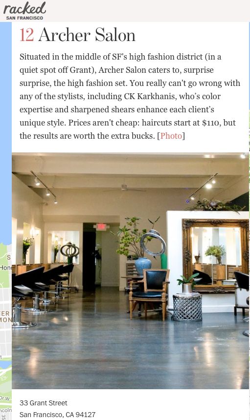 Racked - Best salons San Francisco