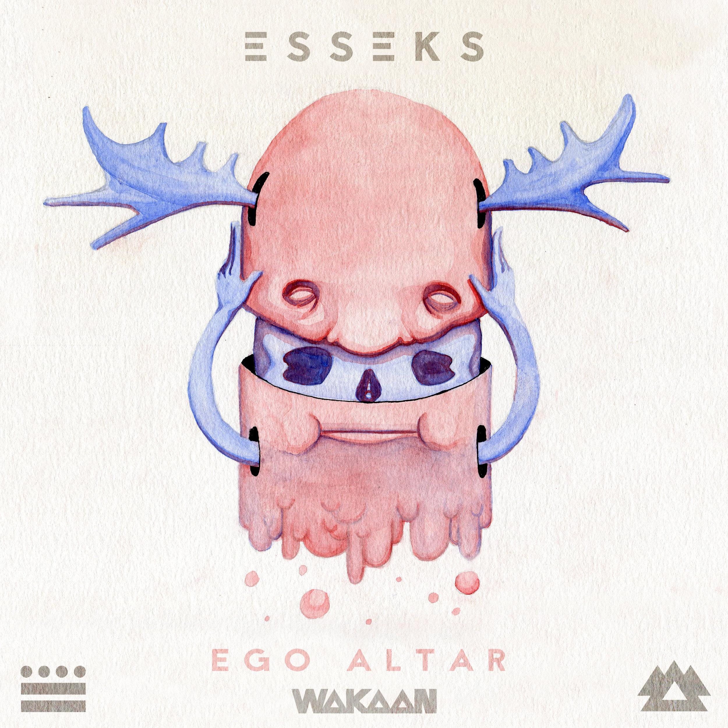 EGO ALTAR cover - watercolor, digital