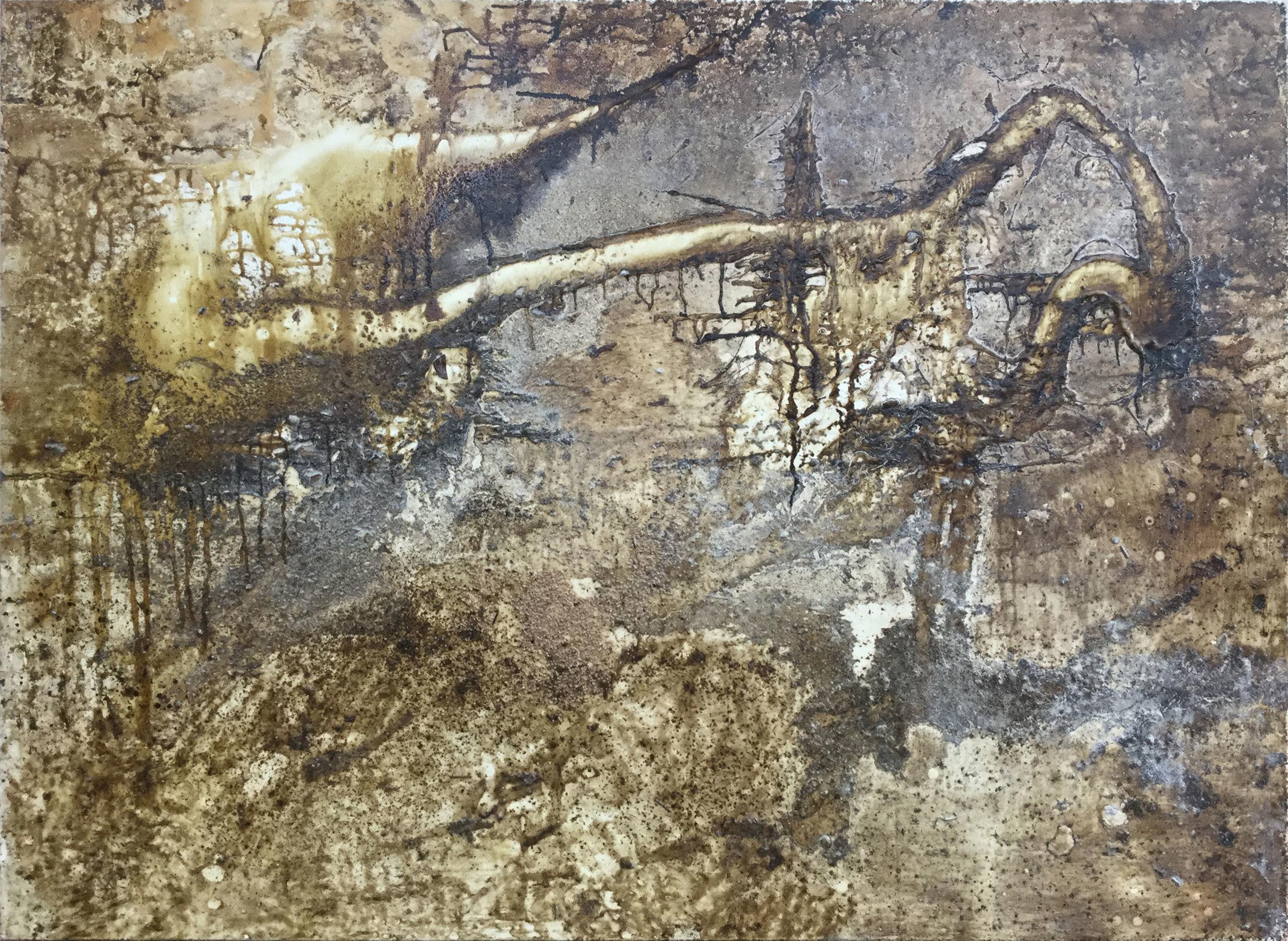 """Decomposition I"" Mixed Media on Canvas"