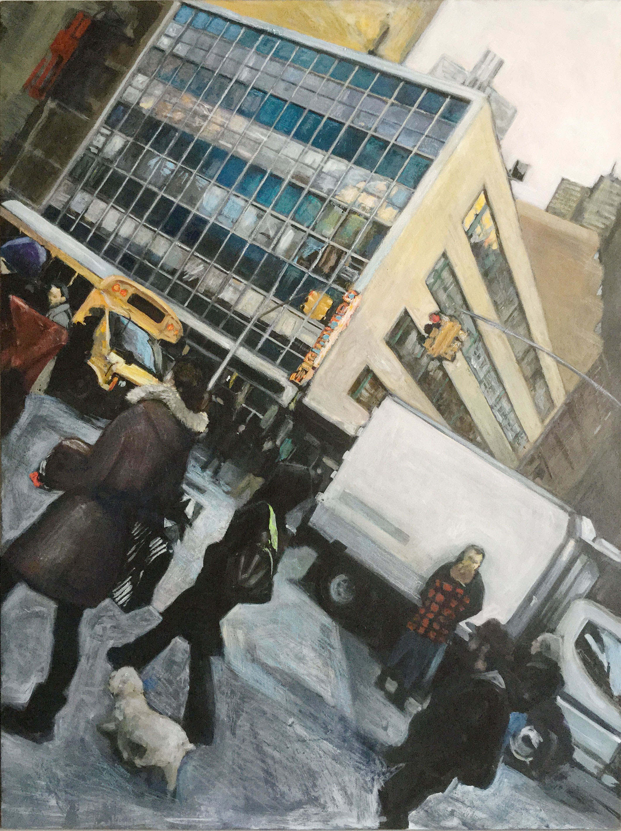 """Union Square"" Acrylic on canvas 2016"