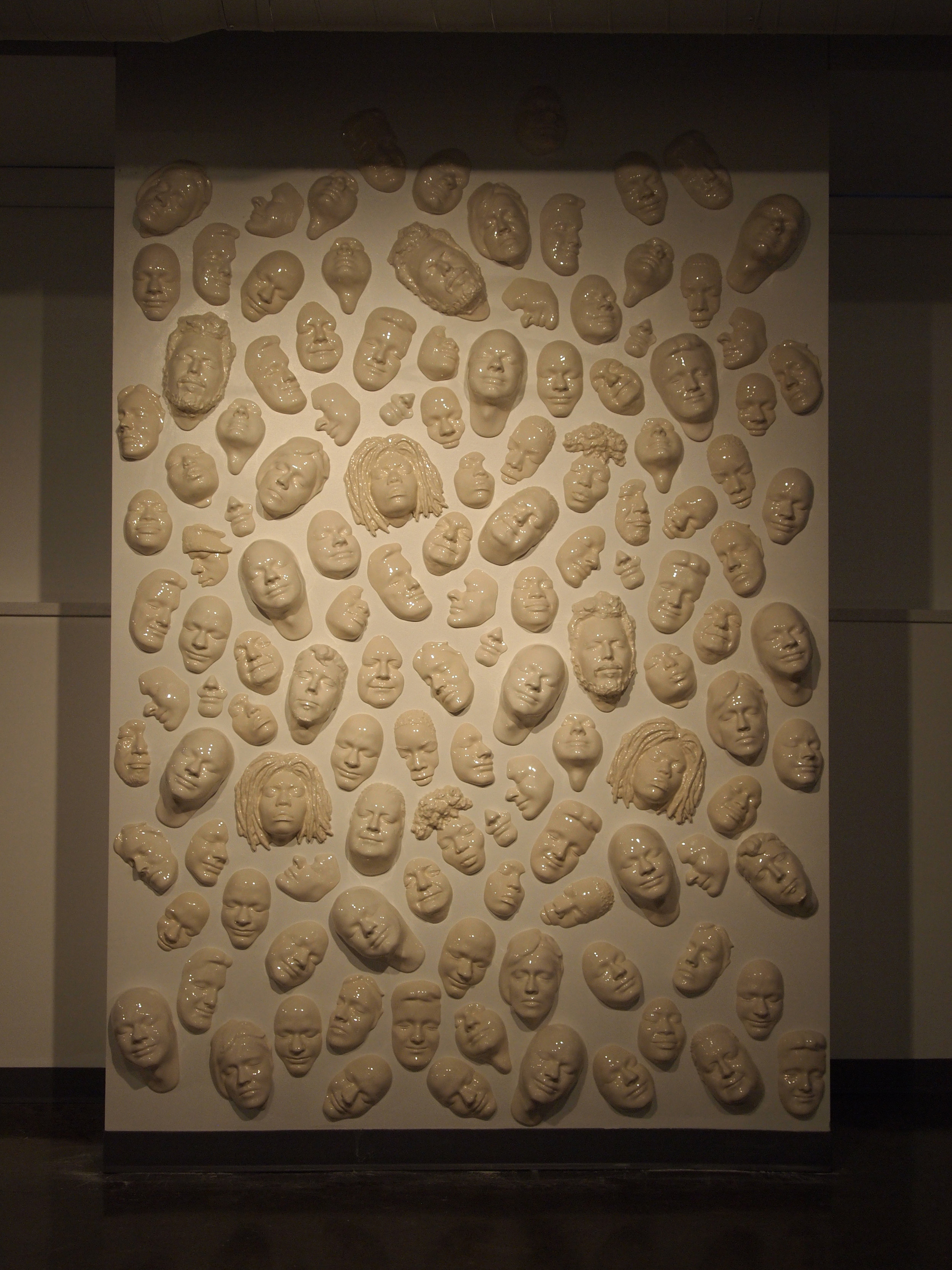 Collect Faces Installation  Ceramic
