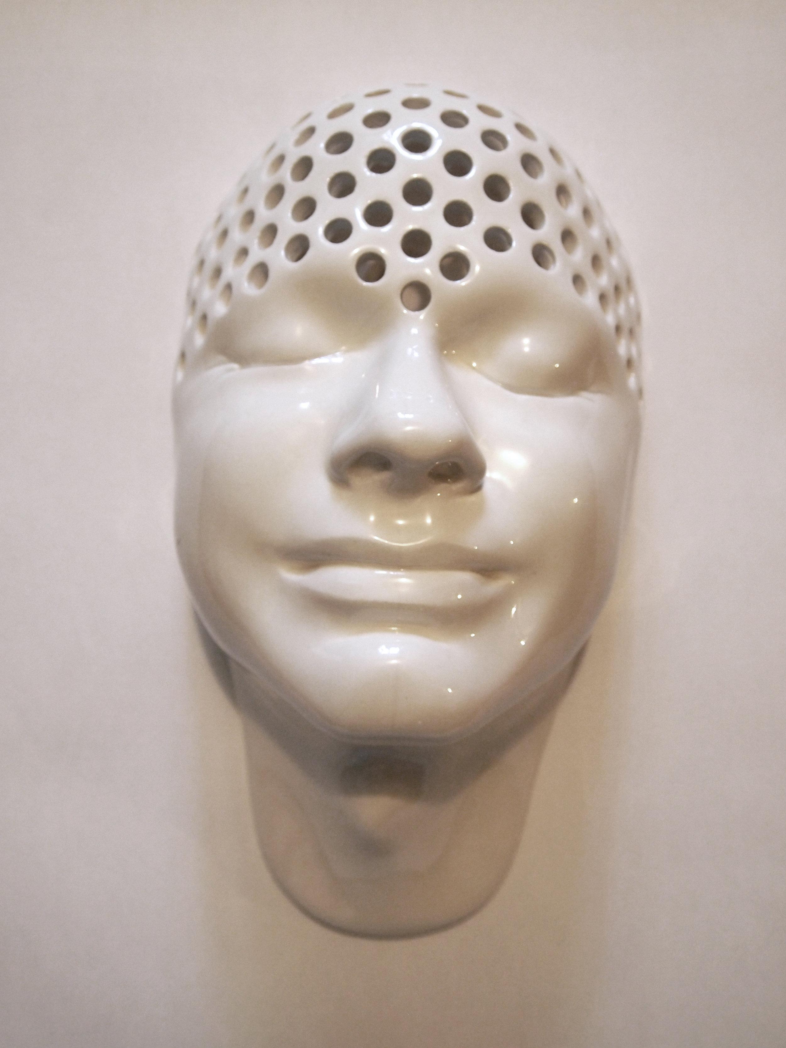 Craig Paul Nowak ceramic face holy art sculpture