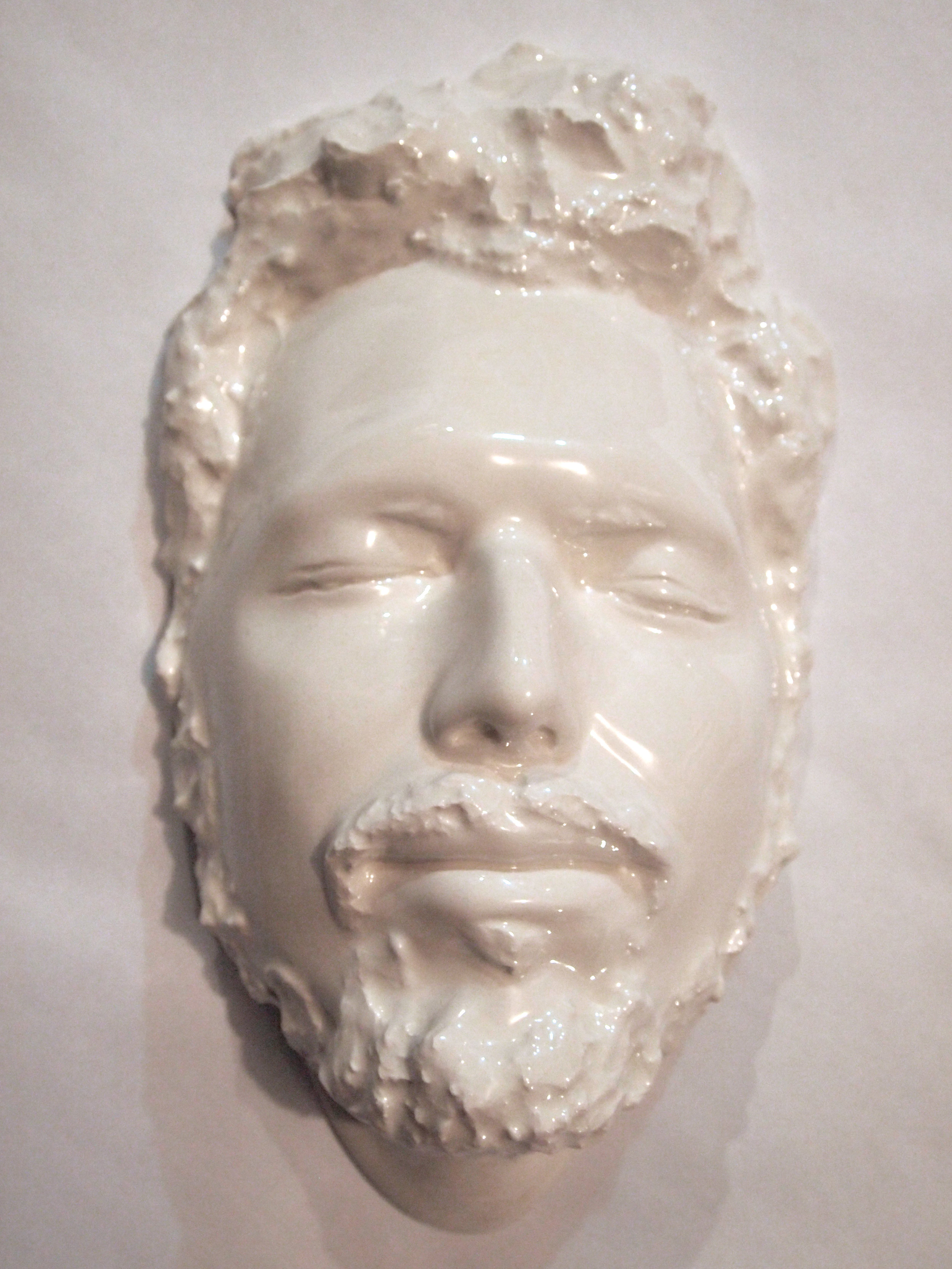 Craig Paul Nowak ceramic face art sculpture