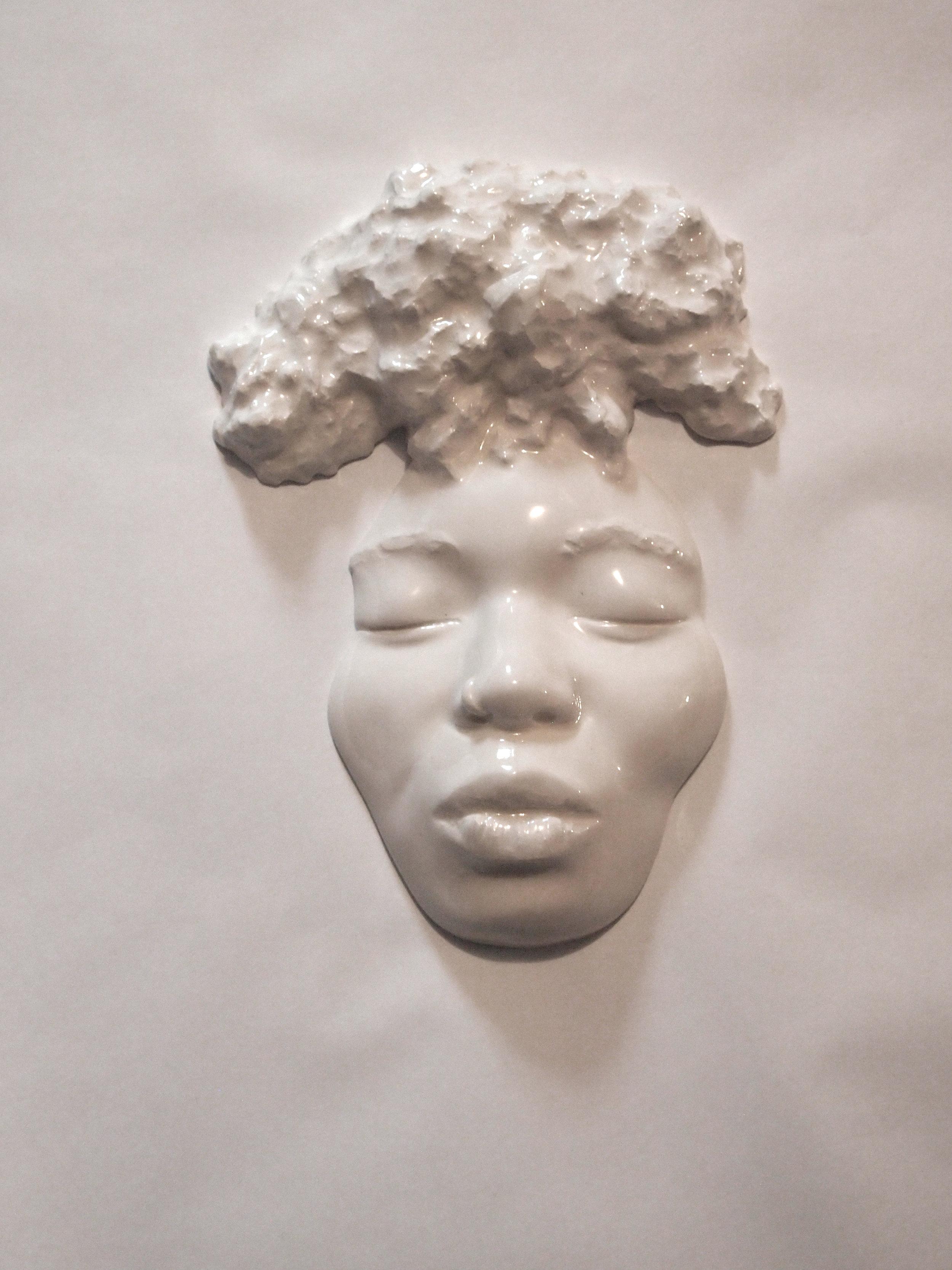 Craig Paul Nowak art sculpture face afro
