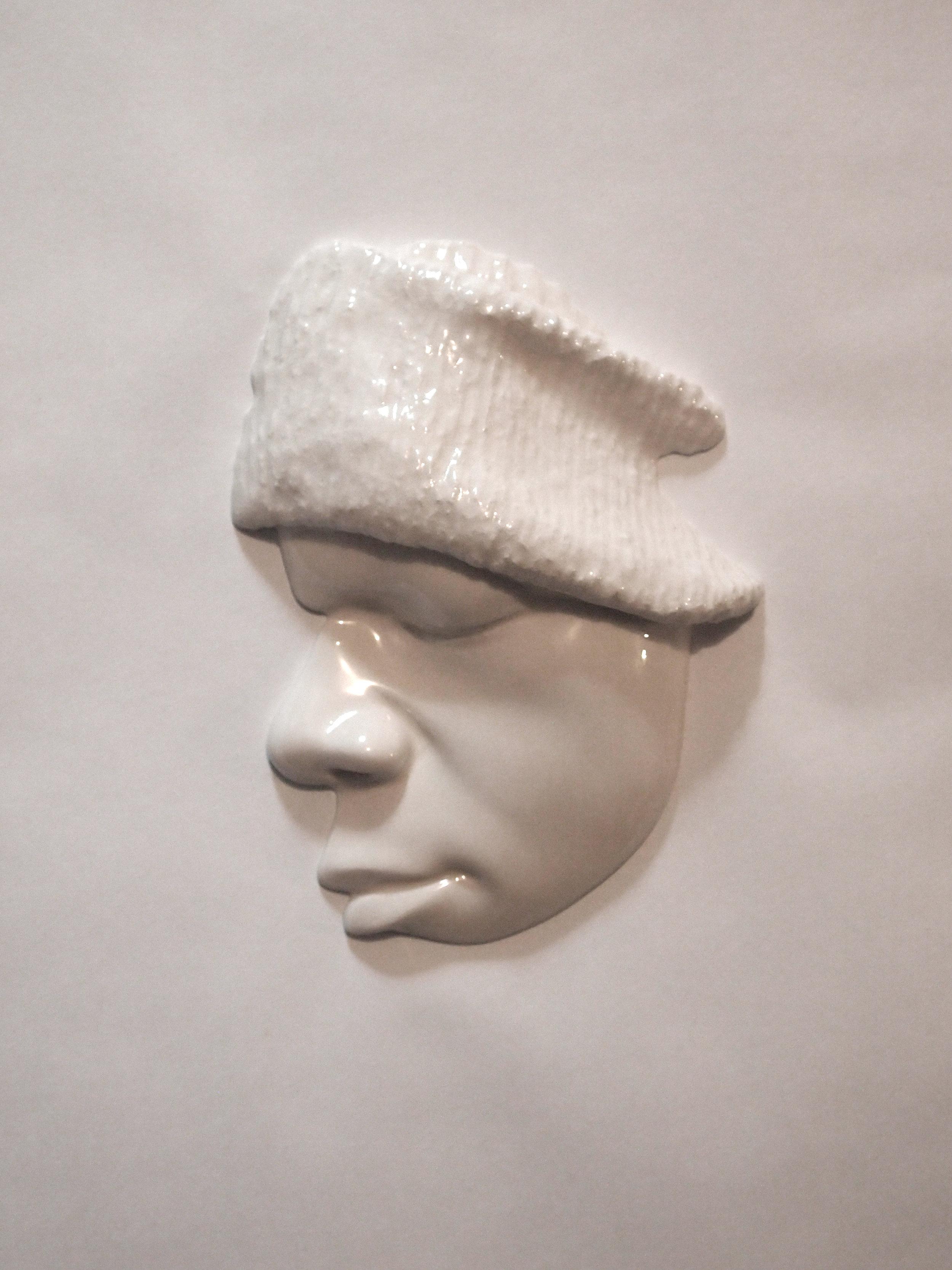 Craig Paul Nowak art face sculpture hat