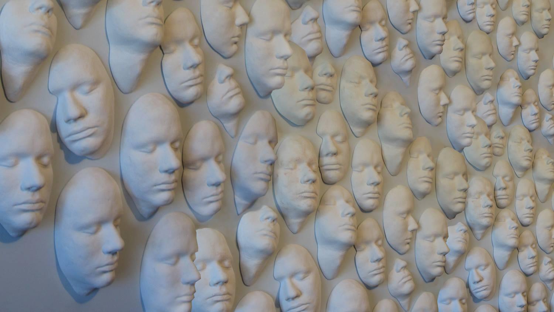 Collect Faces Installation (mockup)  digital mockup for proposals
