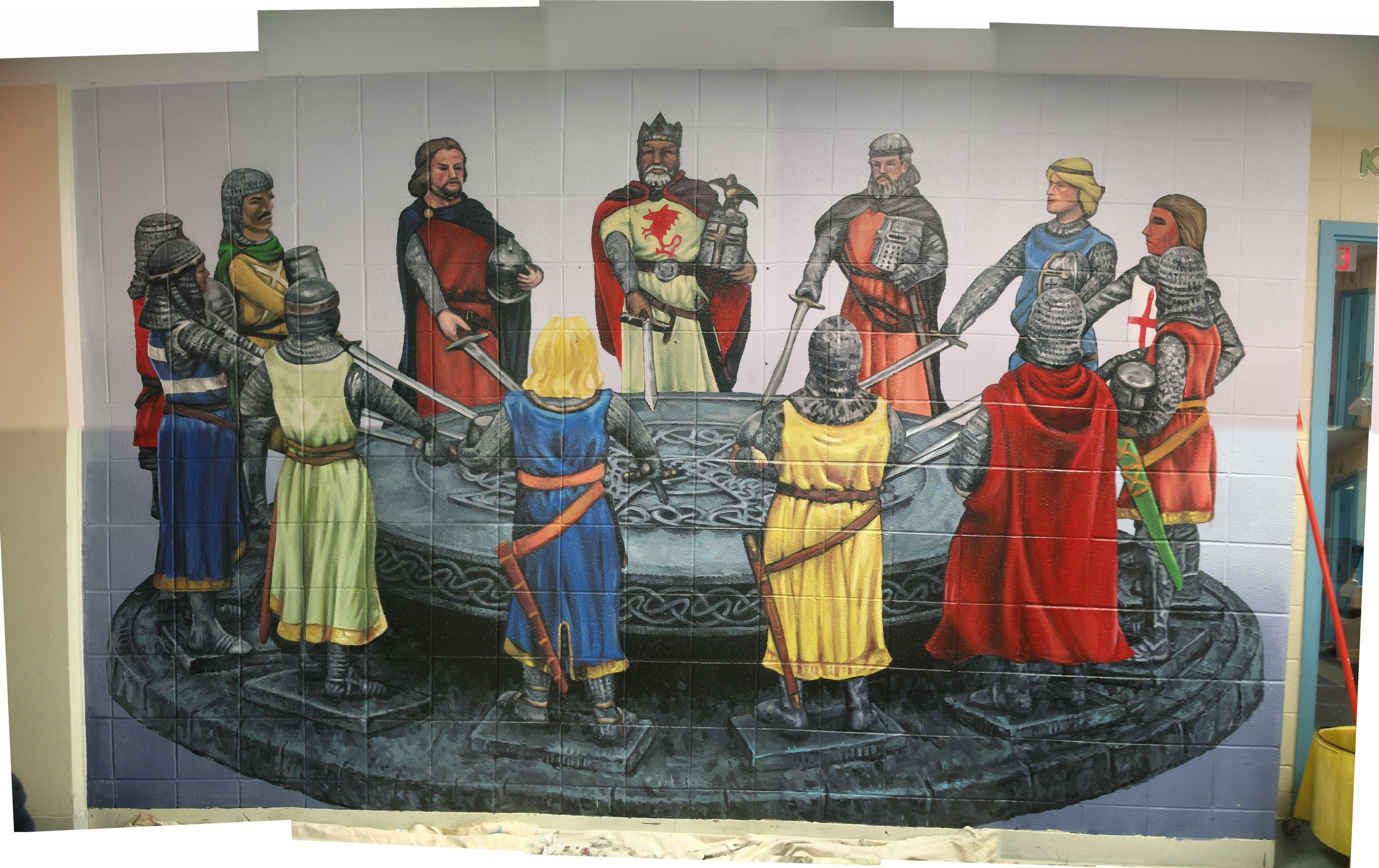 The Knights mural at Rice Child and family Center