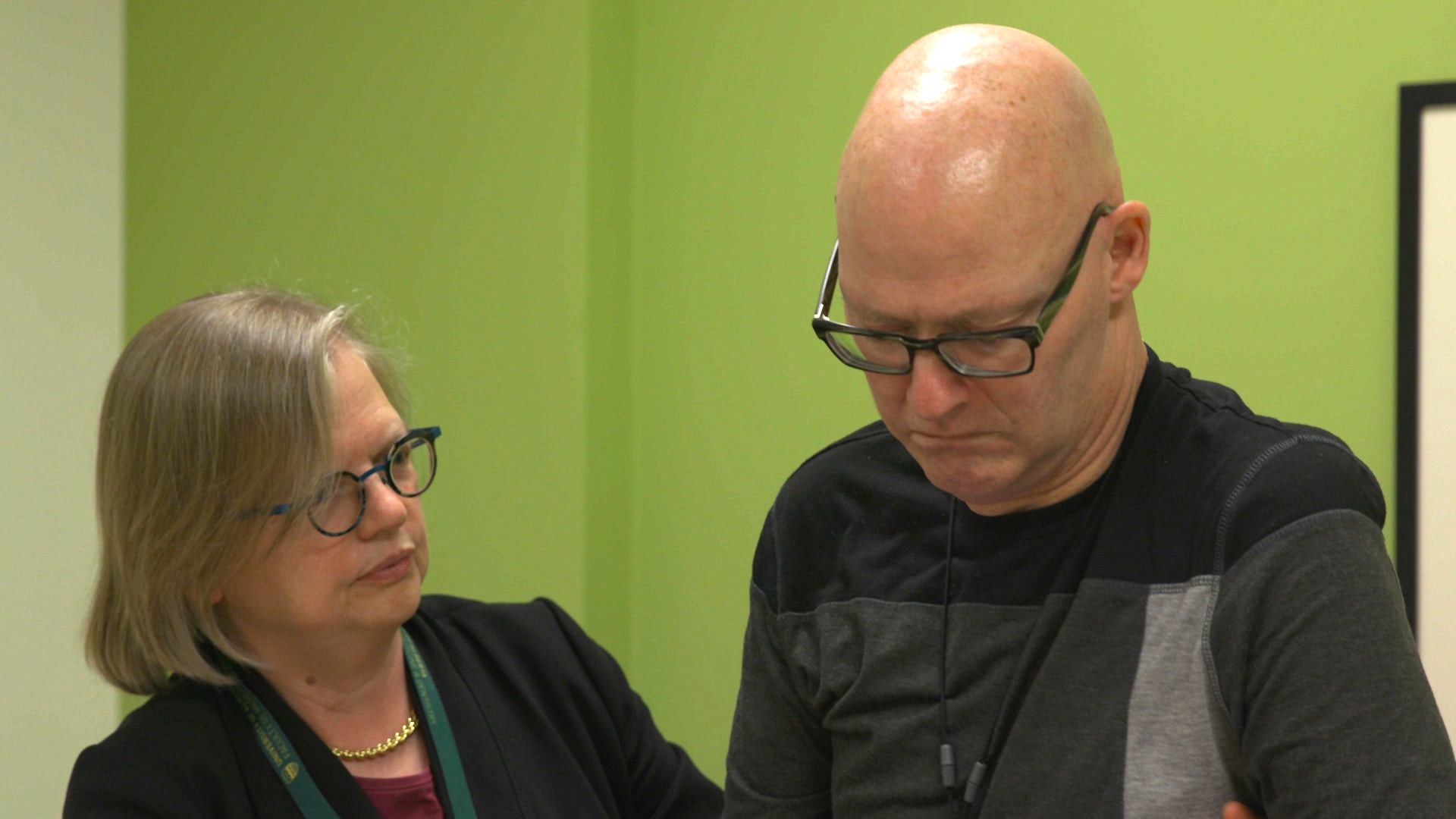 L to R:  Dr. Wendy Johnston and John Tuckwell, ALS patient