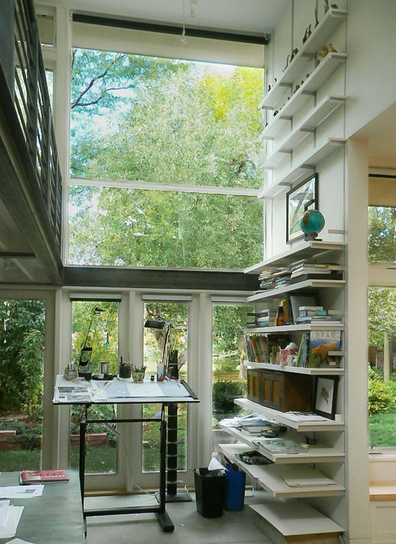 studio, view of garden