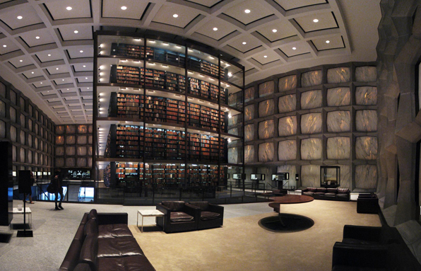 Yale_University's_Beinecke_Rare_Book_and_Manuscript_Library by Gordon Bunshaft