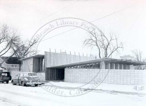 Sampson House, designed by Tician Papachristou, 1958, Boulder, Colorado