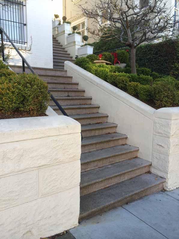 San Francisco steps, concrete, multiple flights