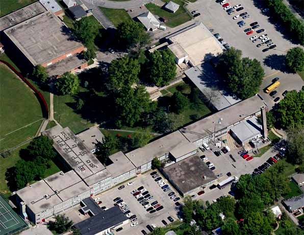 Waggener High School, aerial photo