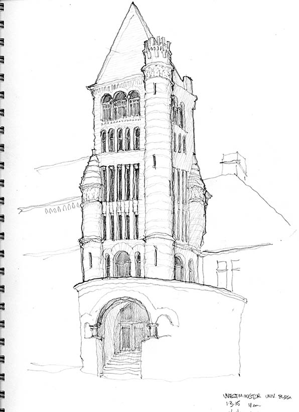 Westminster University sketch 02