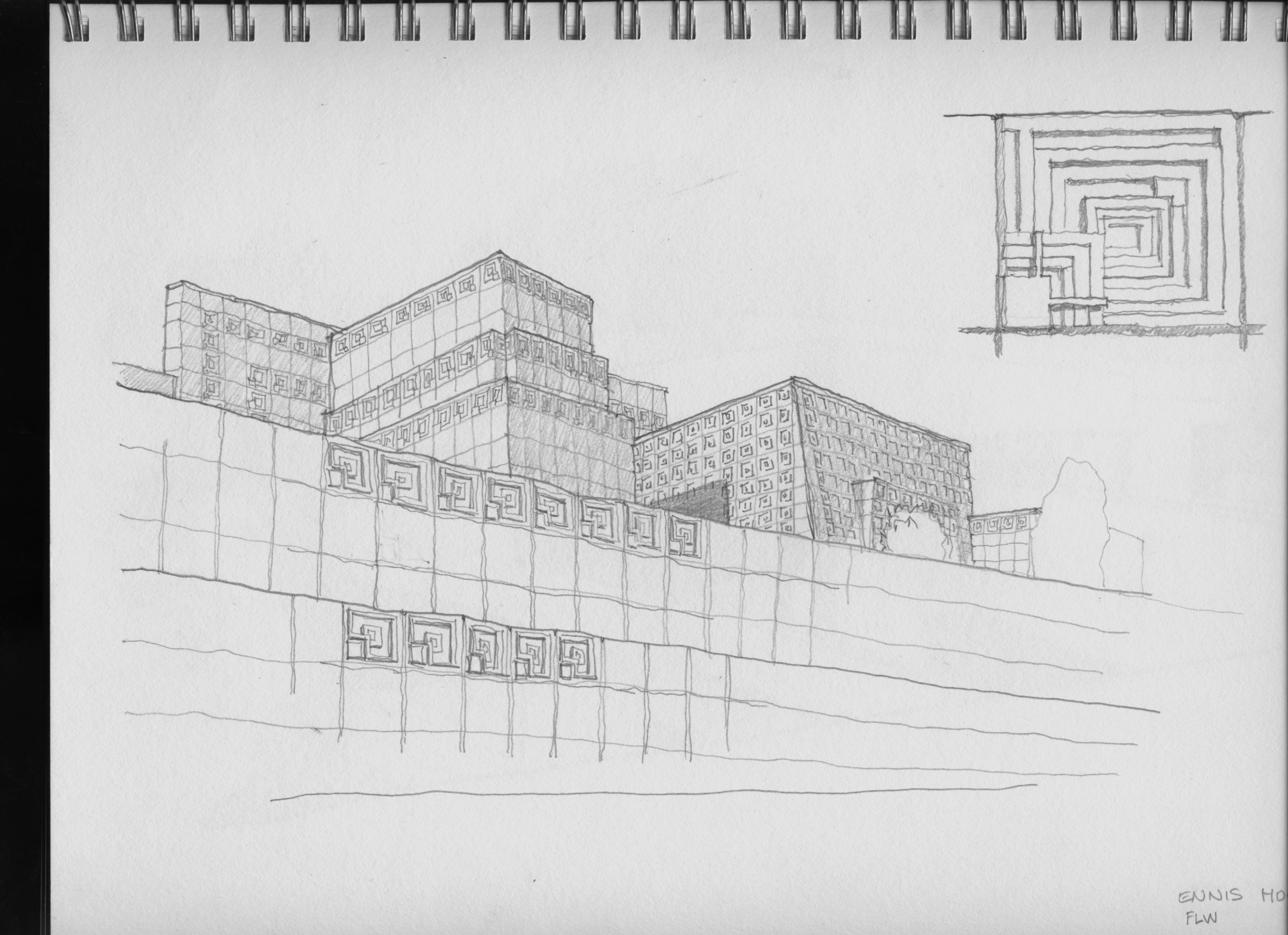 Ennis House sketch