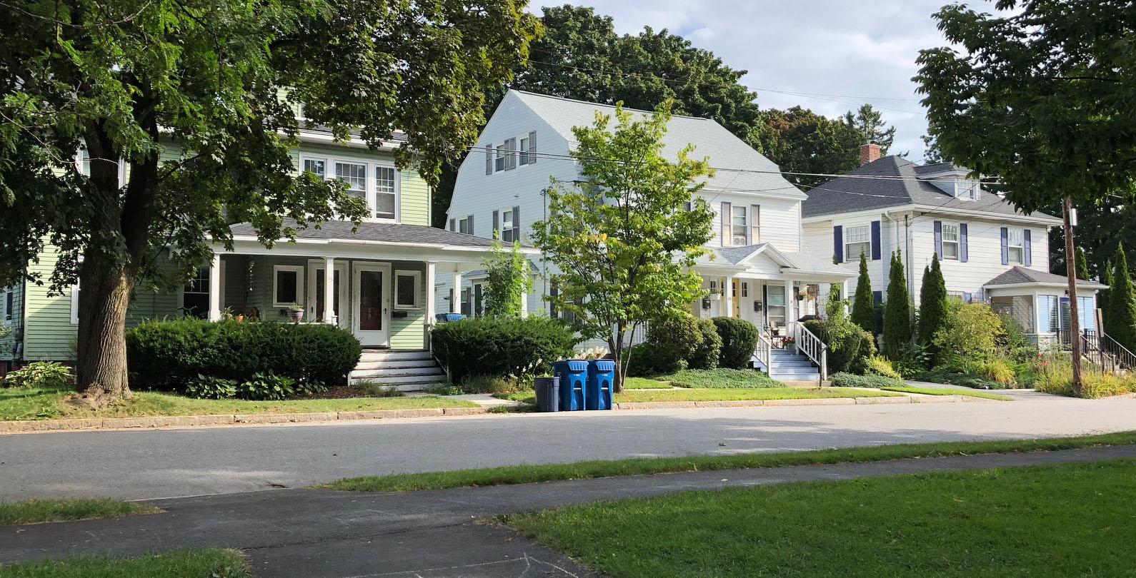 a row of Portland houses