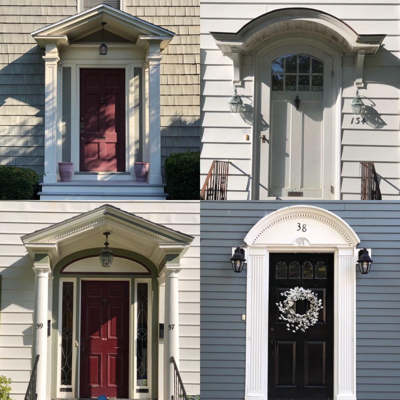 trim details of Portland doorways