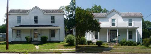VA house, white, single deep, gabled, composite.jpg