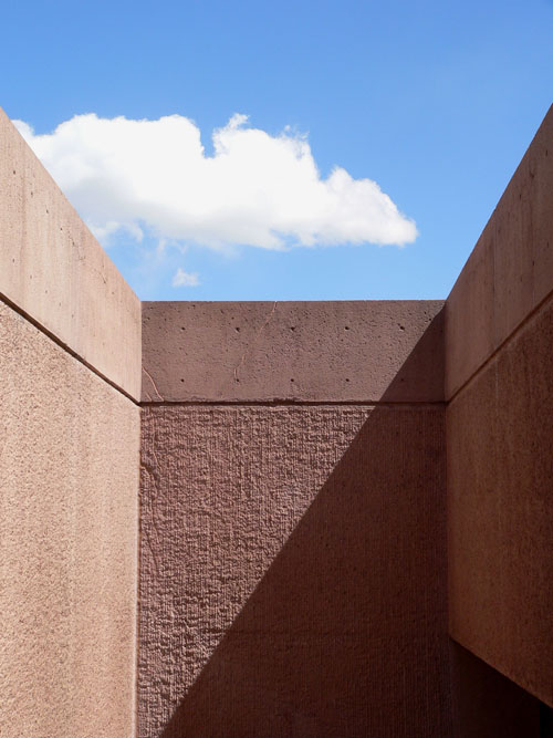 NCAR and I. M. Pei, east courtyard stair