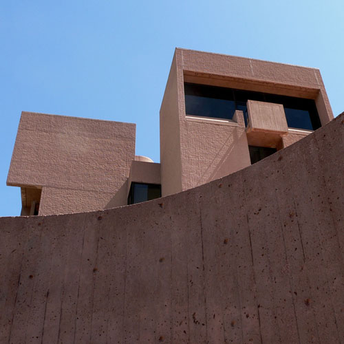NCAR and I. M. Pei, image from east stair