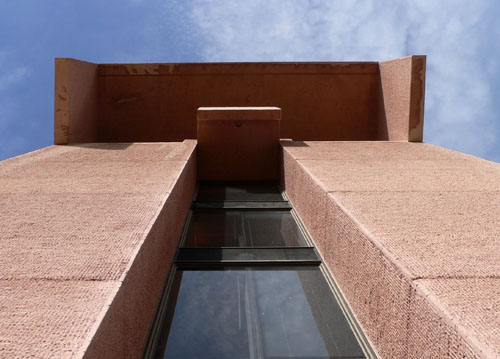 NCAR and I. M. Pei, view up tower