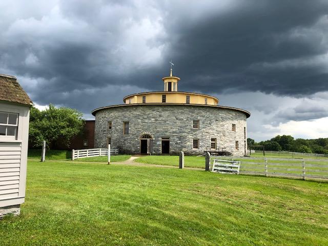 round stone Shaker barn