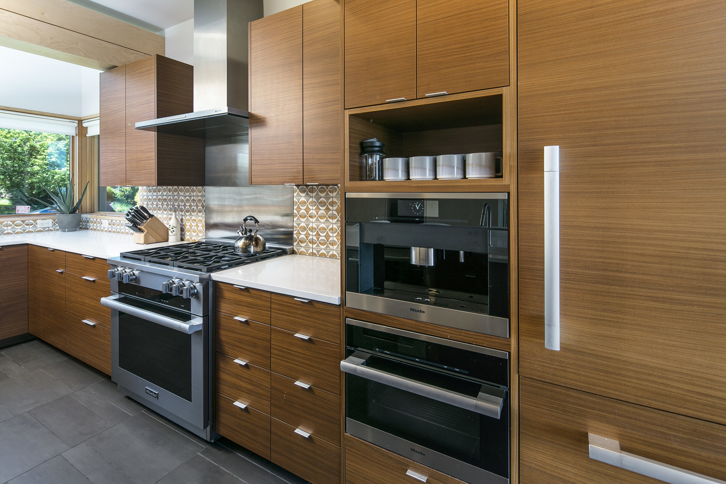 Upper Vassar Drive renovation and addtion, view of new kitchen